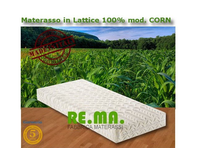 Materasso in Lattice 100% mod. CORN - Naturale alla Fibra di MAIS