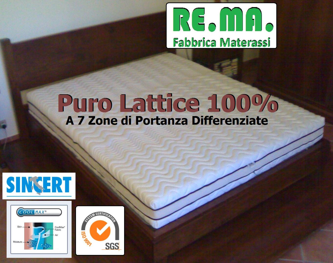 Materasso in Lattice 100% mod. COOLWAVE
