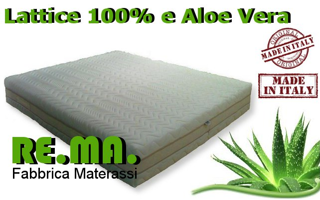 Mod. ALOE - Materasso in Lattice 100% e ALoe Vera